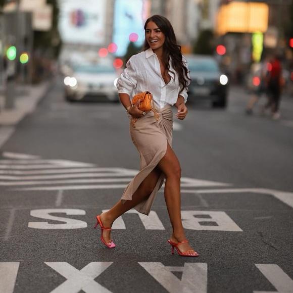 Zara heeled sandals bloggers fav